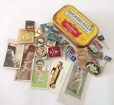 Erinmore Flake Tobacco Tin Cigarette Cards Russian Soviet Pin Badge Lot (B55)