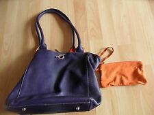 Hochwertige Leder Wendetasche mit Geldbeutel lila orange  w. NEU  HMI1115