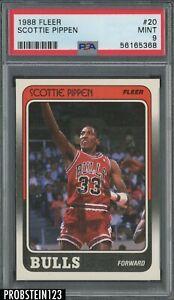1988 Fleer Basketball #20 Scottie Pippen Chicago Bulls RC Rookie HOF PSA 9 MINT