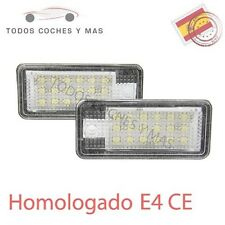 PLAFONES LED MATRICULA AUDI Q7 A3 A4 S6 A8 HOMOLGADOS E4 CE LUCES LUZ ENVIO 24H