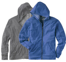 New Helix Young Men's Full-Zip Lightweight vintage Burnout Hoodie Gray or Blue