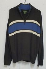 Eddie Bauer Mens Heavy Knit 100% Cotton Long Sleeve 1/4 Zip Pullover Sweater XL