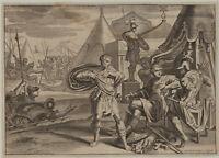 KAMPF um TROJA Original Bouttats Kupferstich um 1670 Ovid Griechenland Schlacht