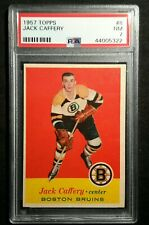 1957 57-58 Topps Jack Caffery (8) Boston Bruins PSA 7 NM Clean