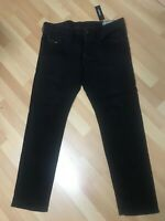 NWT MADE ITALY Men Diesel  BUSTER Stretch Denim 0886Z BLACK W36 L30 H7.5 RRP£170