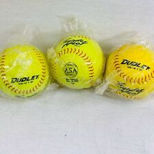 Lot Of 3 Dudley Poly Core Thunder Heat Softball, 12 Inch Yellow Core.44 Ws12 Yrf