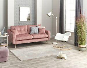 New Wool Blend Elegant Modern Design Cream Grey Pink Superior Quality Area Rugs
