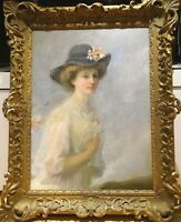 Huge 19th Century French Impressionist Lady White Dress Portrait Mary CASSAT