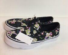 Vans Disney Slip On Unisex Black Cartoons Skate/sneaker Shoes Size 3 Medium
