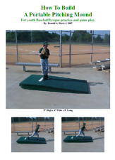 Portable Youth Pitching Mound Plans - Easy to follow Dyi plans! Free Shipping!