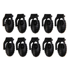 10 PCS Shoelace Buckle Non-slip Hiking Stopper Rope Clip Clamp Cord Lock QW