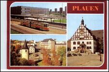 DDR Postkarte PLAUEN Oberer Bahnhof Tram Straßenbahn, Blick Otto-Grotewohl-Platz