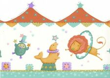 Big Top Circus Animals Wall Border 10 yards 30 ft Kidsline Retired New