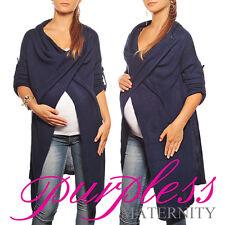Purpless Maternity 2 in 1 Pregnancy and Nursing Sweater Cardigan Coat B9005 Navy 8/10