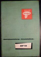 Welger Ballenpresse AP 12 Ersatzteilliste