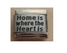 9mm Classic Size Italian Charms  L9  Family - Home is where the heart is