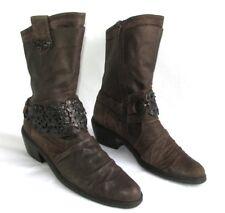 MAM'ZELLE Bottes courtes originales cuir marron 37 EXCELLENT ETAT