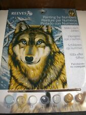 NEW Reeves Painting by Numbers PPNJ67 WOLF
