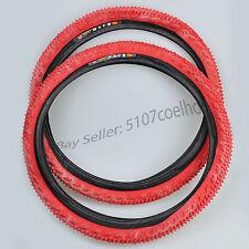 "(2 tyres) '98 Panaracer Mach SK 20"" x 2.125"" Red tyre set for BMX - NOS"