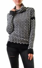 For Love & Lemons Women's Big Sur Turtleneck Sweater Black RRP $171 BCF68