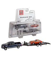1:64 GreenLight *2018 NISSAN TITAN* Hitch & Tow HEAVY DUTY TRAILER & DATSUN 240Z