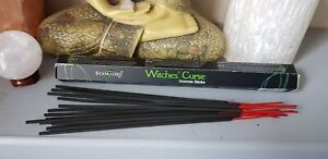 Witches Curse Incense Sticks great for relaxation meditation spell work Free P&P