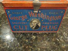 George Washington Cut Plug Tobacco Lunch Pail Tin - R. J. Reynolds Tobacco Co.