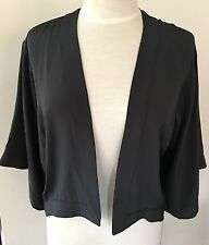 "Sass & Bide ""Silk Basics"" Charcoal Grey Jacket - Size 6"