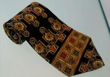 Metropolitan Museum of Art Tie 100% silk gold blue red black pattern