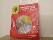 Inflatable Globe. Teaching Tree - Inflates To 11.5 inches (29.2) New in Package!