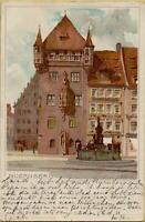 1462: AK Postkarte Nürnberg Nassauerhaus gelaufen 1898