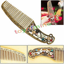 New Fashion Retro style bronze color hollow butterfly dragonfly comb