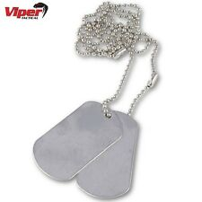 VIPER US-STYLE MILITARY DOG TAGS MENS TAG NECKLACE BOYS FANCY DRESS COSTUME