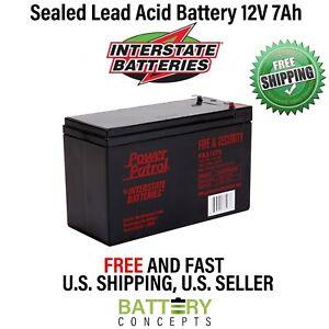 INTERSTATE BATTERIES 12V 7Ah SLA/Sealed Lead Acid FISH FINDER Battery