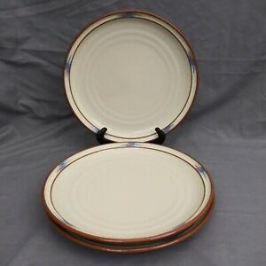 Noritake Stoneware Raindance #8675 Dinner Plates Southwest Santa Fe Set of 3