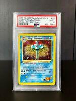 Misty's Tentacruel Holo Pokemon Card 1st Edition Gym Heroes WoTC 10/132 PSA 9