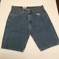 NEW LEVI'S levis 505 shorts blue REGULAR FIT 100% COTTON mens Medium Wash