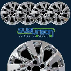 "FITS 2019-2021 Hyundai Tucson # 7709P-C 17"" Chrome Wheel Skins NEW SET/4"
