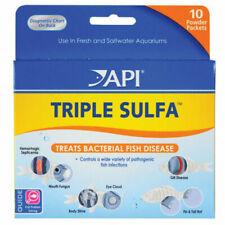 API TRIPLE SULFA 10 POWDER PACKET AQUATIC TREAT BACTERIAL DISEASE. FREE SHIP USA