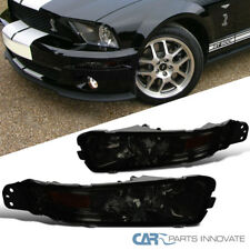 Ford 05-09 Mustang Replacement Turn Signal Front Bumper Lights Lamps Smoke Lens