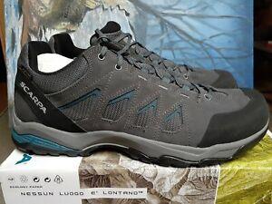 Scarpa 63074/201 Men's Moraine GTX (S19) Grey/Lake Blue Waterproof Hiking size12