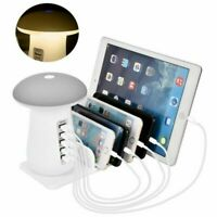 Multi 5 USB Port Desktop Charger Rapid Tower Charging Station Power Adapter 40W