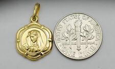 10K gold Virgin Mary ( Madonna ) medal / pendant