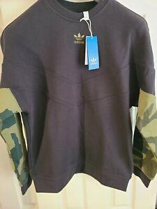 NEW! Adidas Designer MED/LG Sweatshirt Black Camouflage