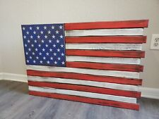 Large American Flag Gun Concealment Case With 2 Compartments