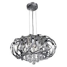 Diseño Cristal 5-fl. Lámpara Colgante Cromado Lámpara Led Lámpara Colgante Nuevo