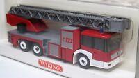 Wiking 1:87 Mercedes Benz Econic Drehleiter DLK 30 PLC OVP 615 01 Feuerwehr
