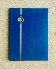 **NEW* ⭐️ BLUE STAMP ALBUM (A4* STOCKBOOK) 16, Double Sided, White Pages (16/32)