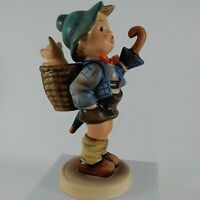 "Goebel Hummel Figurine #198/1 TMK5 - 5 1/2""Tall-Home From Market-Boy/Pig/Basket"