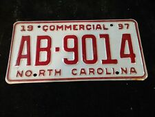 1997 N.C. COMMERCIAL License Plate